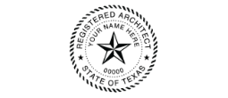 TRA-4141 - TRA-4141Texas Registered Architect Stamp