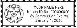 RECTANGULAR NOTARY STAMP