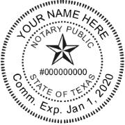 TNPR-4141 - TNPR-4141 Texas Notary Public Round Stamp